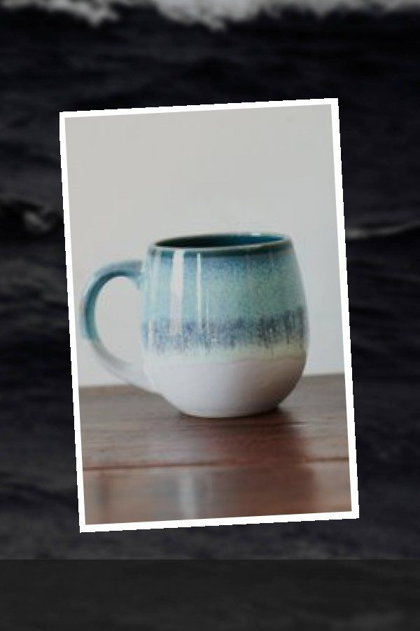 Blue Drippy Ceramic Mug Earthbound Trading Company Earthbound Trading Company Blue Ceramic In 2020 Ceramic Pottery Ceramic Mug Mugs