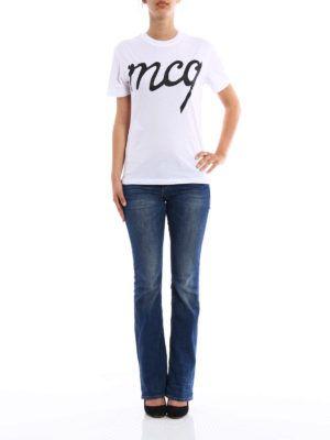 Alexander Mcqueen: t-shirts online - Glitter logo T-shirt