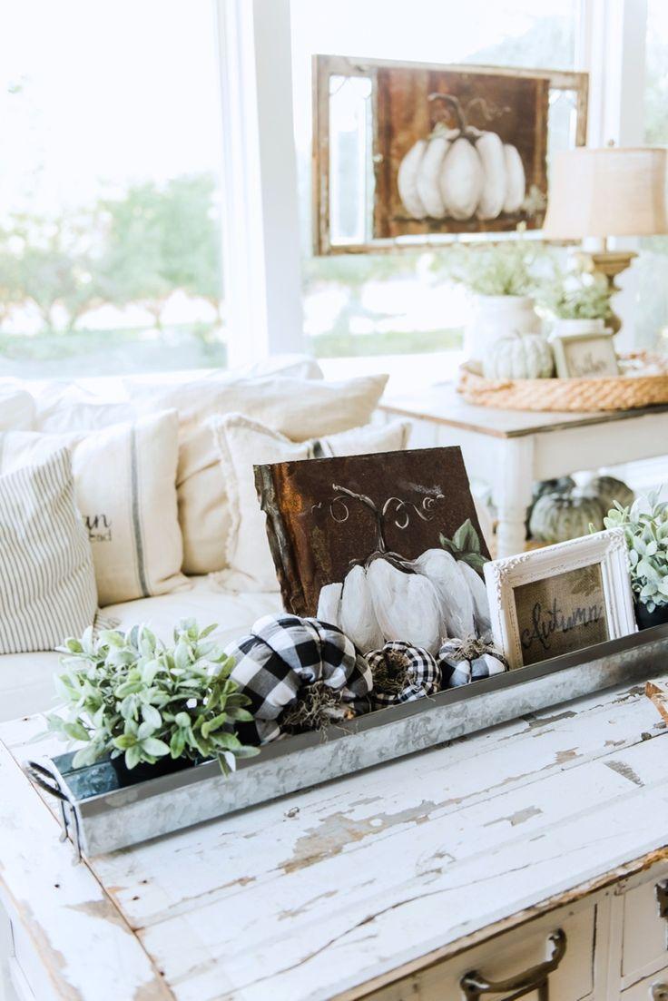 Cozy farmhouse fall sunroom flor de lis decoraciones de for Decoraciones d casa