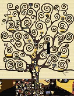Tree of life klimt cross stitch