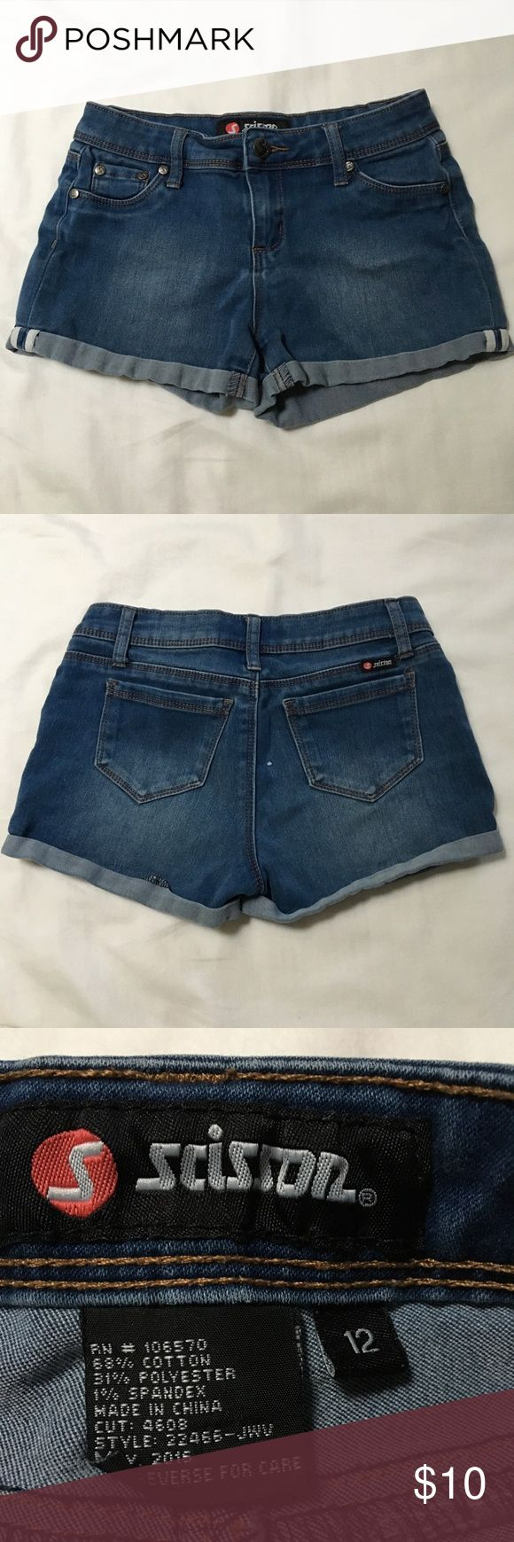 Girls Denim shorts Cute girls Scissor brand Denim shorts. Like new, no tags. Barely worn. Bottoms Shorts