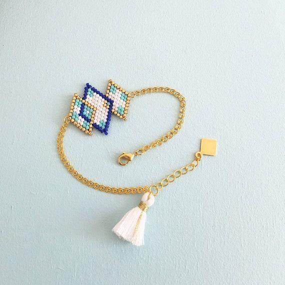 Bracelet tissé à l'aiguille en perles de par MyFrenchTouchBijoux