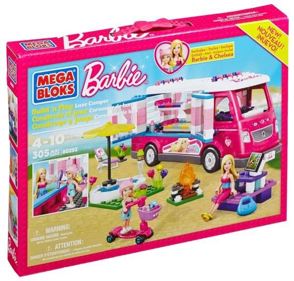 Mega Bloks Barbie Build 'N Play Luxe Camper + Giveaway #BarbieCamper #Barbie #spon