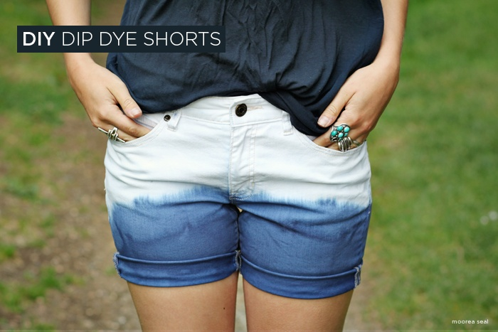 DIY Dip Dye : DIY Dip Dye Shorts DIY clothes DIY Refashion