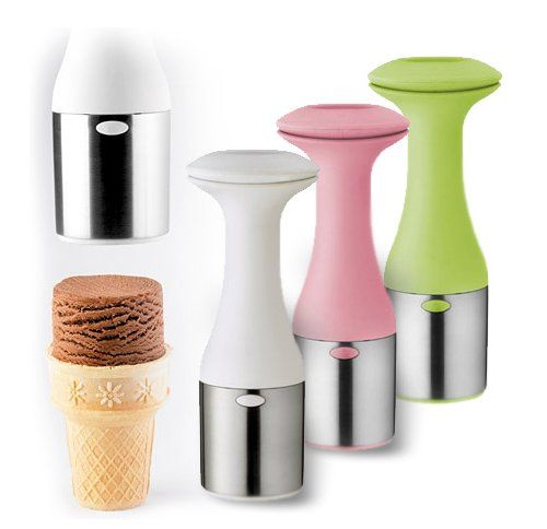 Cuisipro Ice Cream Scoop & Stack is the perfect way to build tall stacks on that cone.