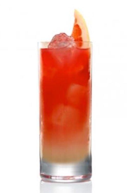 Rooster: Orange Juice + Cranberry + Red Bull + Vodka
