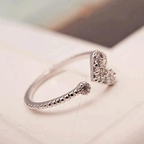 anillo de corazon