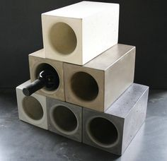 Wine Brix, a classic & contemporary way to serve your wine. Our handcrafted Wine Brix take advantage of a key property inherent to concrete--the