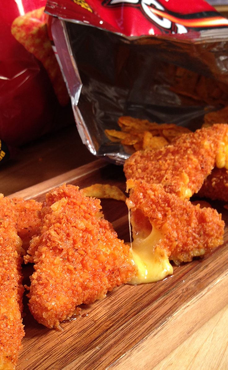 Home Hack: Cheese-Stuffed Doritos! I think this would be great w/other, even healthier chips  cracker ideas!