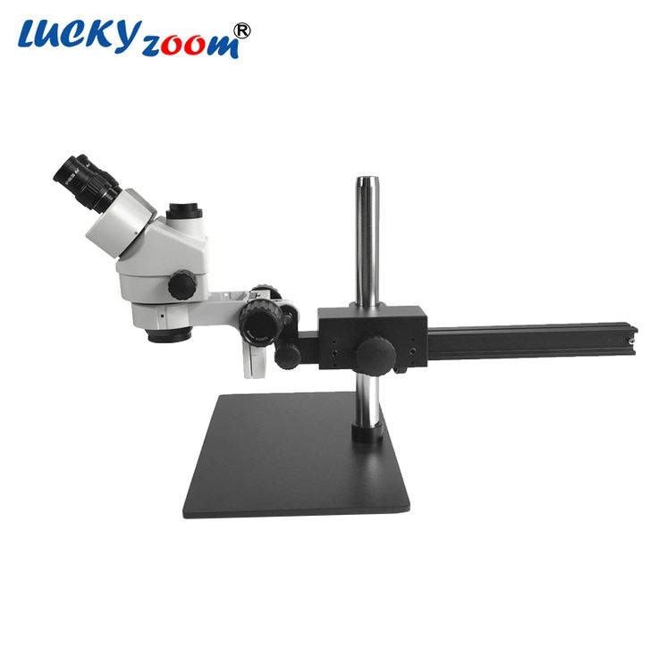 Luckyzoom Brand Professional 7X~45X Trinocular Guide Stereo Zoom Microscope 25cm Working Distance PCB Inspection Microscope //Price: $365.15//     #onlineshop