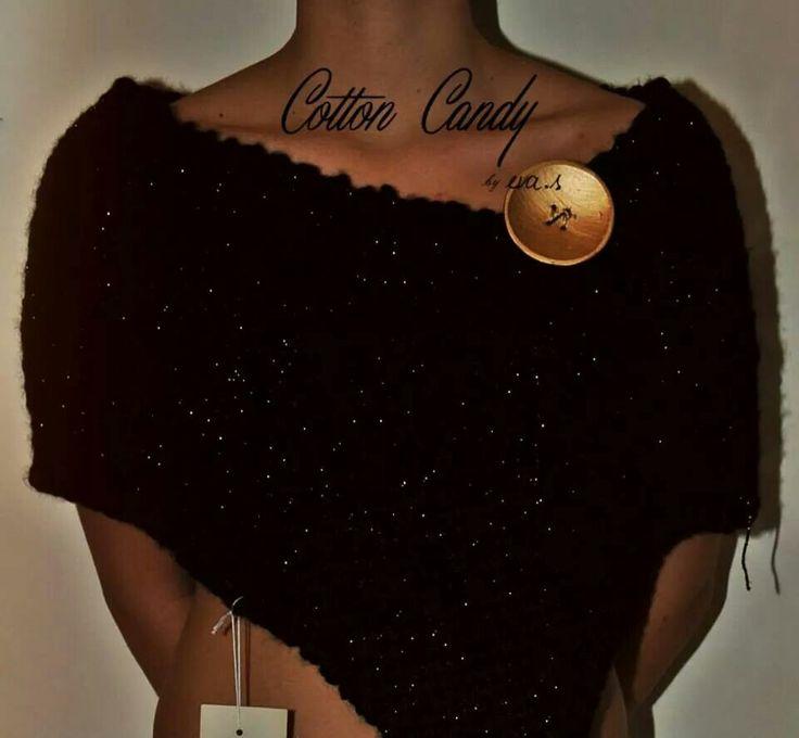 CottonCandy Black&Gold Poncho designed by eva.s
