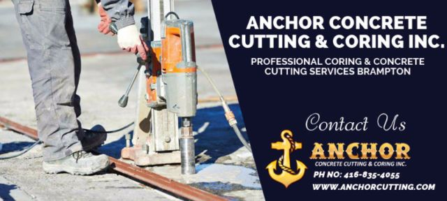 Anchor Cutting deal with every aspect of #Concrete #Cutting #Service and #CoringService like cutting, coring, cleaning and on time service delivery that always would be in your budget. #ConcreteCuttingServicesBrampton #coringservicesBrampton #concretecoringBrampton For more detail call us:- Ph No: 416 835 4055  info@anchorcutting.com