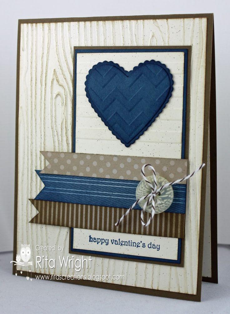 Blue & browns valentine.  (Feb'13)  #Valentine, #masculine