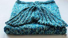 Cómo tejer una manta con cola de sirena en dos agujas
