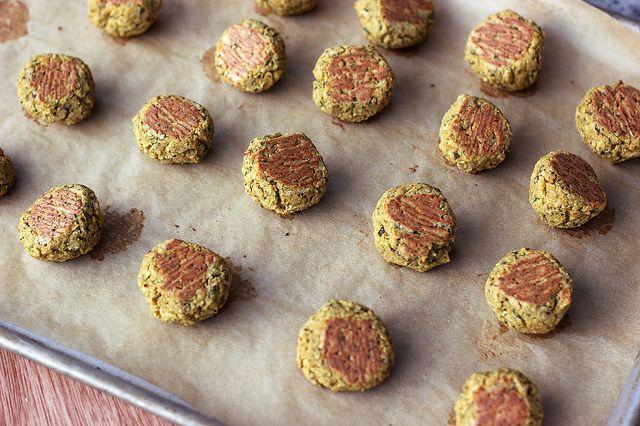 Baked Falafel Bites with Creamy Tahini Dressing - gluten ...