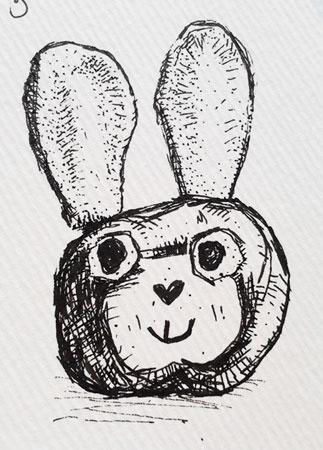 konijn tekening - annemieke bouwman