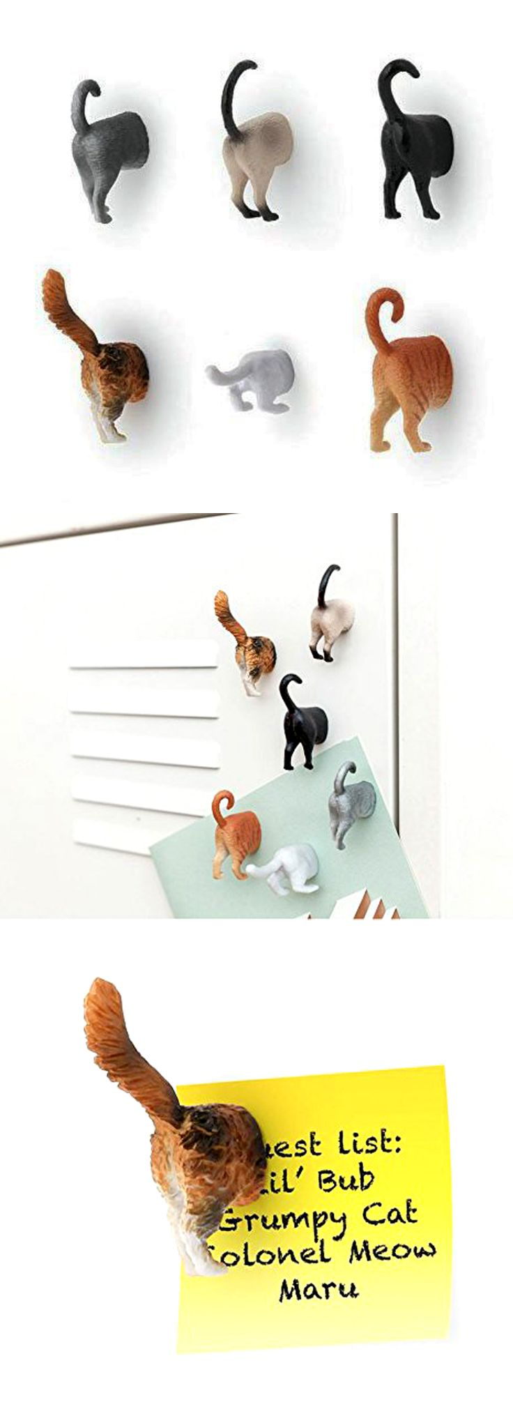 Purrfect for hanging on the refrigerator than boring round, silver magnets. Check it out==>  http://gwyl.io/kikkerland-cat-butt-magnets/