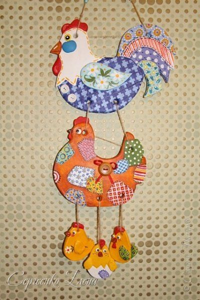 Поделка изделие Лепка Куриные семейки Тесто соленое фото 6