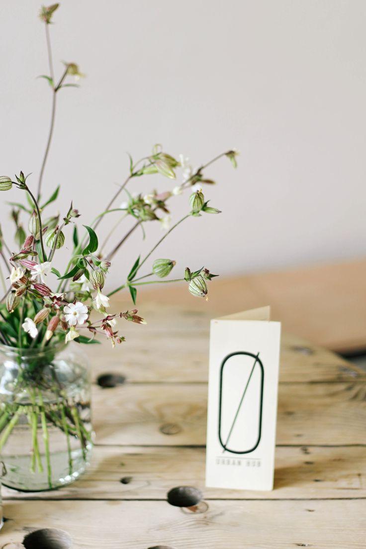 white | wildflowers | decoration | cafe | SKØG Urban Hub | Brno