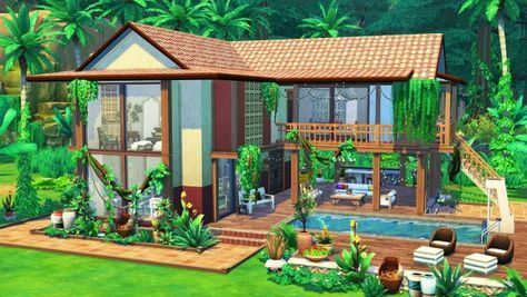 Aveline Sims Jungle Adventure House Sims 4 Downloads Sims