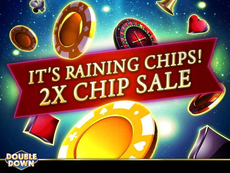 (EXPIRED) Don't let the weather get you down, because here at DoubleDown Casino, it's raining chips! Buy now and get double the chips. And for 150,000 FREE chips, just tap the Pinned Link (or use code GLWWLF)