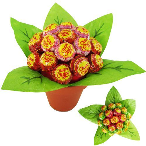 Schluss mit Standard-Blumen! Diese Blume aus Lutschern lässt mit ihren verschiedenen Geschmacksrichtungen garantiert keine Langeweile beim Pflücken und Naschen aufkommen! via: www.monsterzeug.de