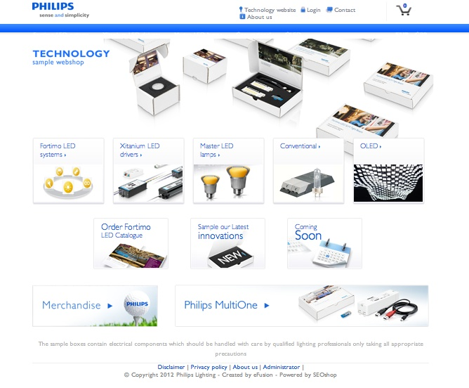 Philips web design | Efusion | by SEOshop ecommerce | online store