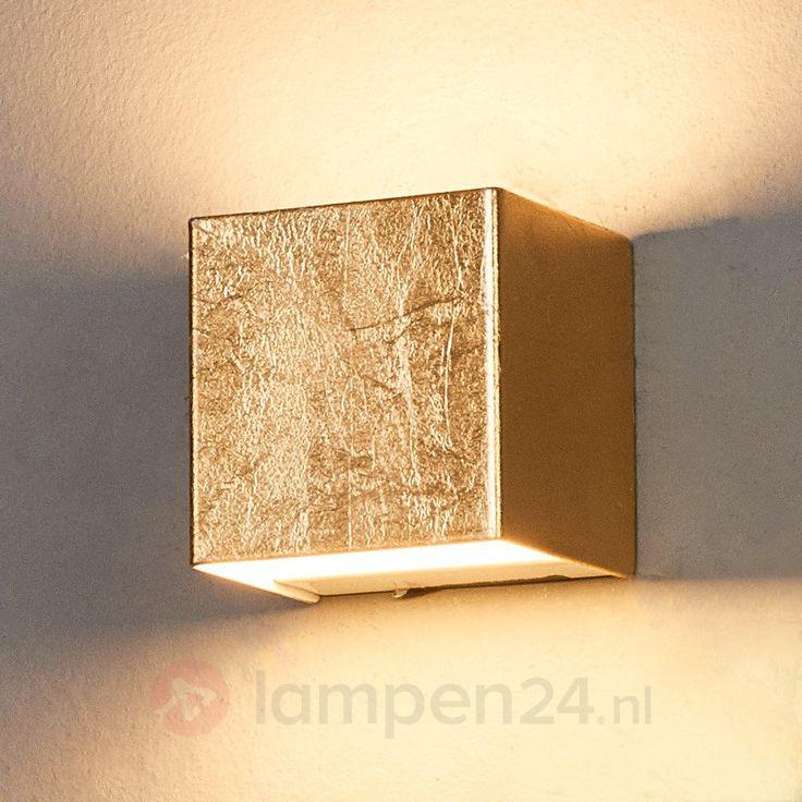 Quentin - LED wandlamp in goud 9625072
