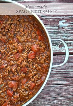 Homemade Spaghetti Sauce. A home made tomato and meat sauce that you can have on…