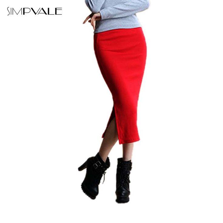 2016秋のスカートセクシーなシックなペンシルスカート女性オフィス半ば腰半ばふくらはぎ固体スカートカジュアルスリムヒップplacketingレディスカート