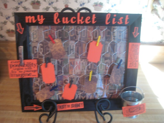 What a great Retirement or significant   Birthday gift!    Bucket List / Altered Art / Fun Gift by LOVE2STAMP4U on Etsy, $21.95