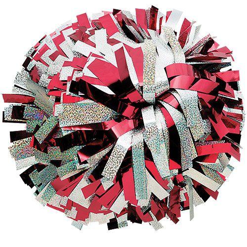 Customizable 1 Metallic & 1 Holographic Color Cheerleading Pom