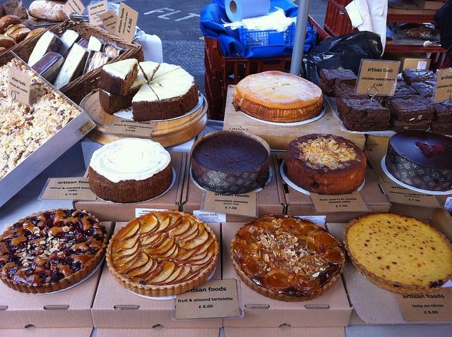 Borough Market cake display