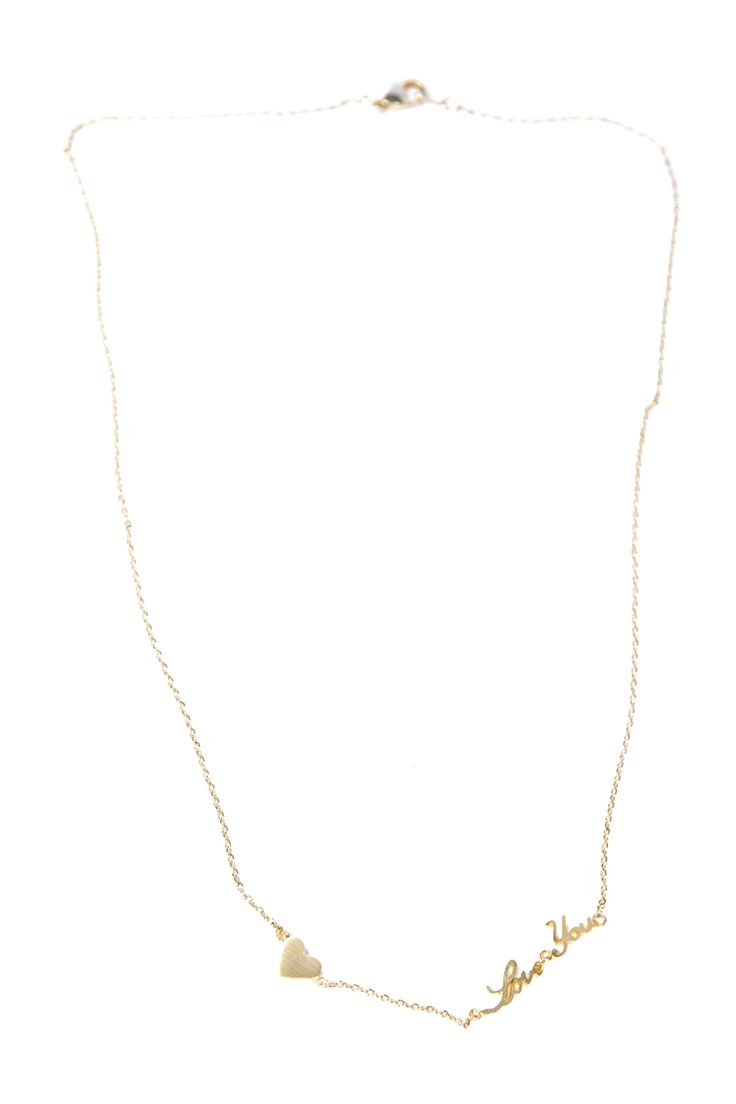 Shoptiques — I Love You Necklace
