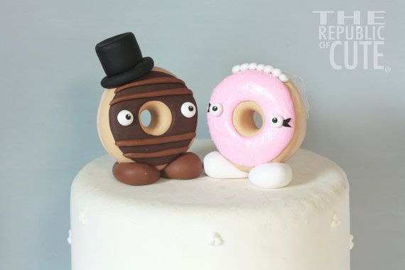 "My signature donut toppers. Available as custom or ""ready to ship"" THIS DESIGN IS THE INTELLECTUAL PROPERTY OF THE REPUBLIC OF CUTE® AND IS PROTECTED BY COPYRIGHT LAW."