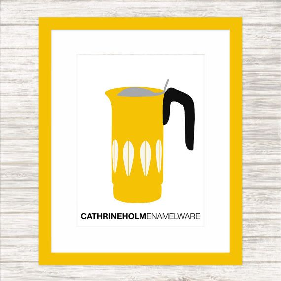 Bright Yellow Cathrineholm Coffee Jug  Kitchen by paper4download
