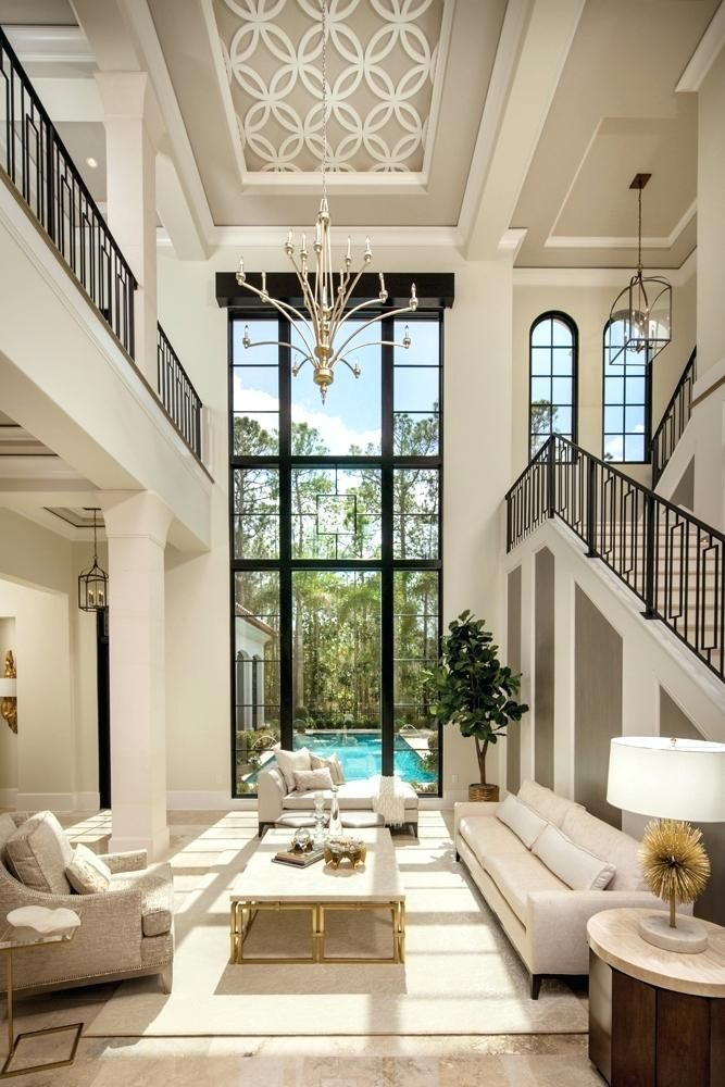 Dream Living Rooms A Foot Window Overlooking The Pool Is The Focal