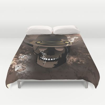 The #skull fighter #Duvet Cover by nicky2342 - $99.00