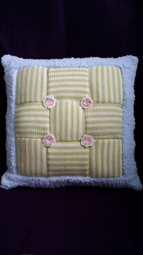 Candy Cushion Wool and Fleece Quilted Patchwork soft by SnugAllure