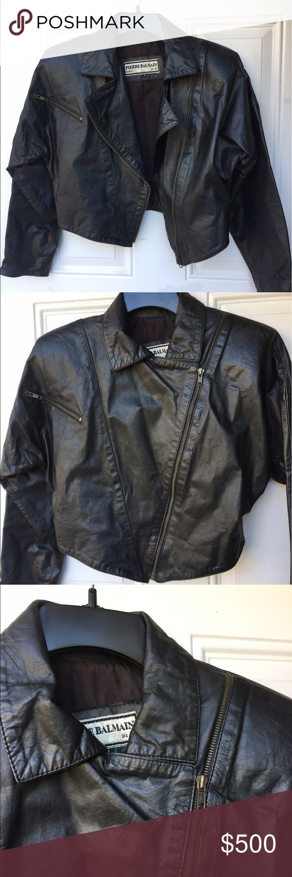 Leather jacket under 500 - Pierre Balmain Leather Jacket From The 80s