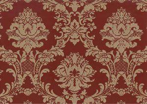 Barock Tapete rot gold Stil Ornamente online kaufen