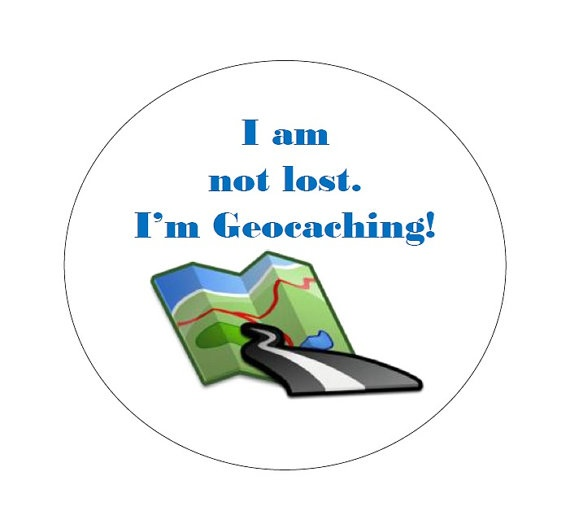 20 Geocaching Swag Stickers  I am not lost I'm by LierielsLove, $2.49