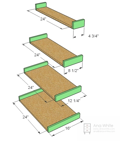 Ladder Bookshelf Plans 32 best ladder shelves images on pinterest ladder shelves easy shelf plans this is a great beginner project very simple cuts and assembly let s get started supply list for 3 shelves free plans floating sisterspd