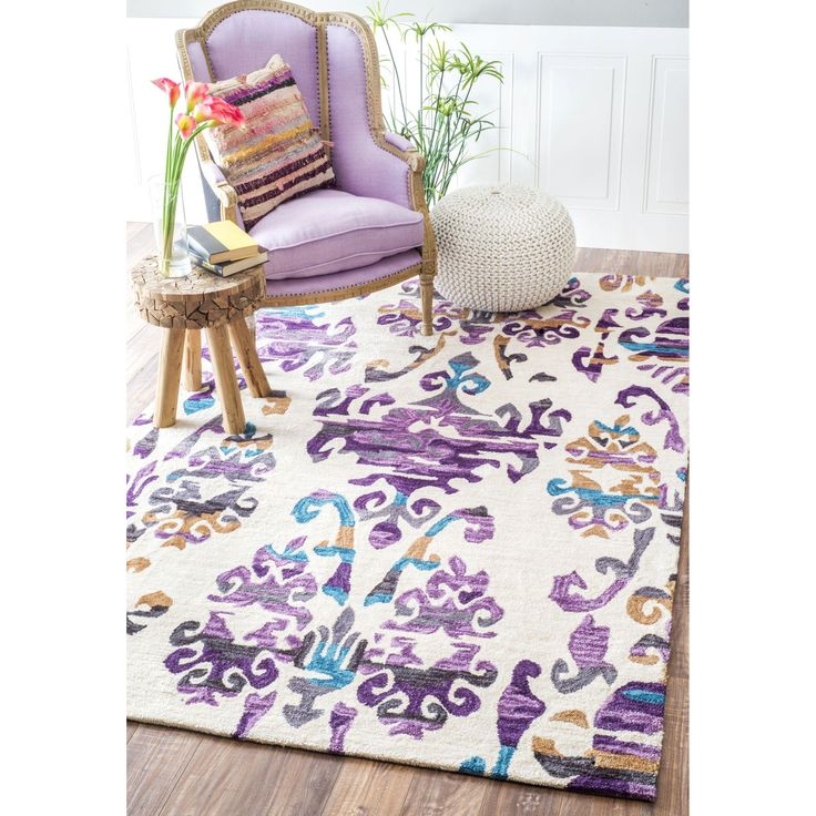 X  Plush Area Rug For Baby Room Purple