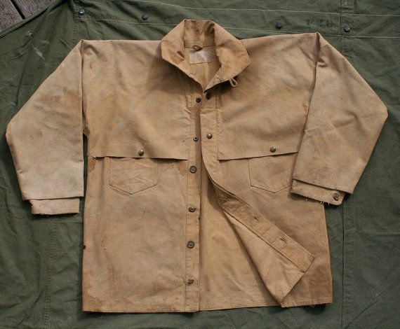 Vintage 1930's 1940's duck canvas work jacket coat workwear CCC depression era denim Union Made vintage WW2