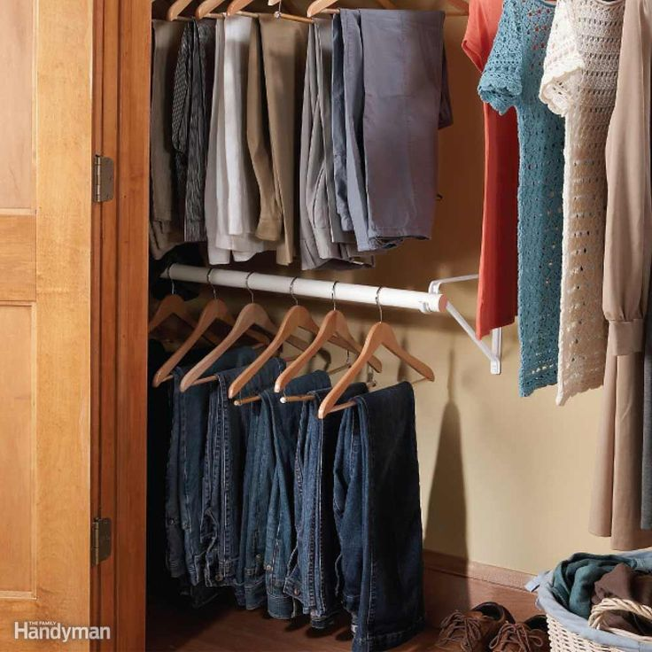 18 Classy Closet Storage Solutions For Your Clothes: The 25+ Best Closet Rod Ideas On Pinterest