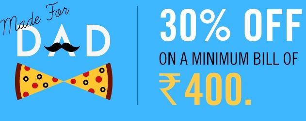#DominosIndia #Pizza #FathersDay Special Flat 30% Off On Minimum Bill Of Rs.400+Extra 20% #cashback Via #IciciPockets Payment Only #Dealspao Visit Offer Page http://dealspao.com/Dominos-Fathers-Day-Special-Flat-30percent-Off-On-Minimum-Bill-Of-Rs.400+Extra-20percent-Cashback-Via-ICICI-Pocket-App-Payment-Only/dealDetail=2691