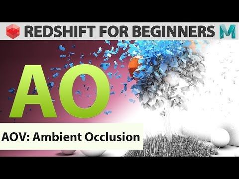 Redshift For Beginners - AOV - Ambient Occlusion - YouTube
