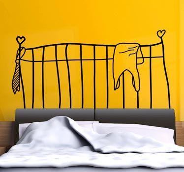 Sticker hoofdeinde bed kind
