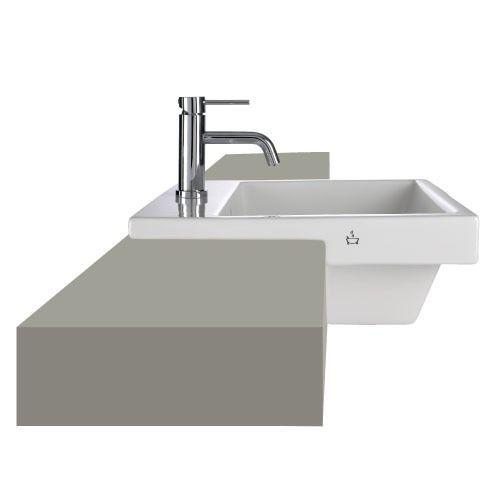 Euro Duo 500mm semi-recessed basin